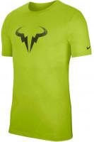 Męski T-Shirt Nike Court Rafa Tee DB - volt/black