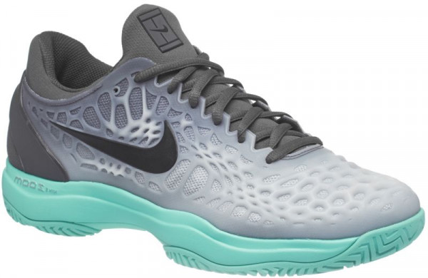 Nike Air Zoom Cage 3 - dark grey/black/aurora green
