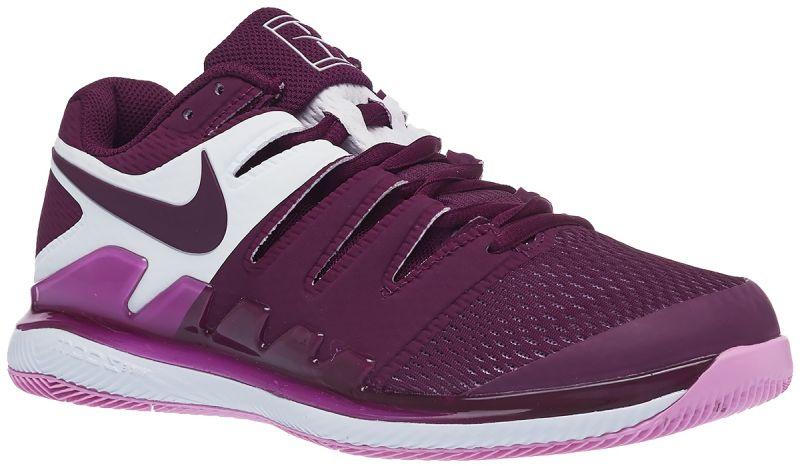 Damskie buty tenisowe Nike WMNS Air Zoom Vapor X - bordeaux/bordeaux/pink rise