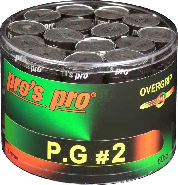 Tenisa overgripu Pro's Pro P.G. 2 60P - black