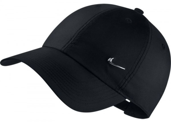 Teniso kepurė Nike H86 Metal Swoosh Cap - black/metallic silver