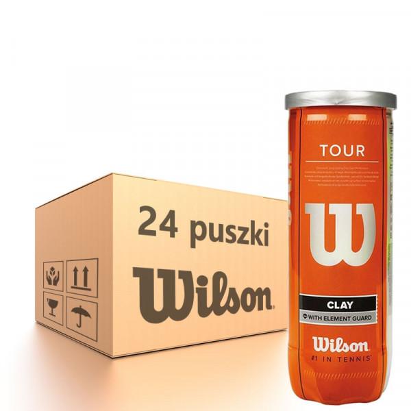 Karton piłek tenisowych Wilson Tour Clay - 24 x 3 szt.