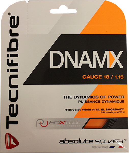 Skvoša stīgas Tecnifibre DNAMX (9,7 m) - black