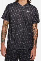 Nike Court Dri-Fit Victory Top Printed M - black/white