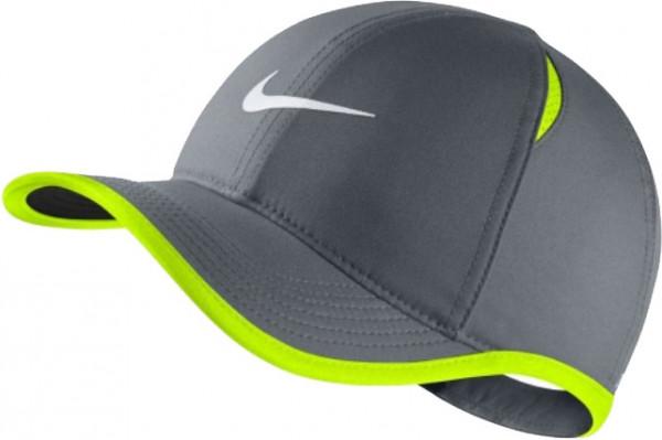 Czapka Juniorska Nike Youth Aerobill Feather Light Cap - cool grey/volt/white