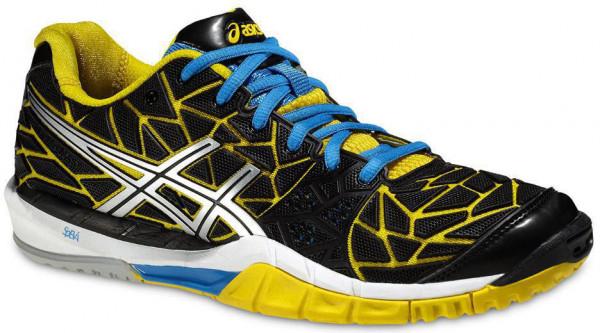 Buty do squasha Asics Gel-Fireblast - black/lightning/yellow