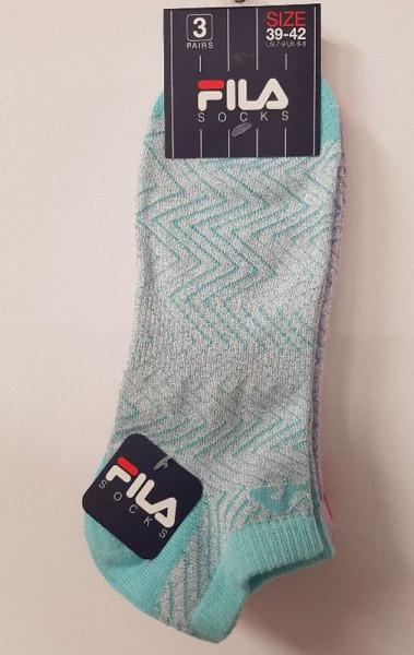 Teniso kojinės Fila Woman Calza Invisible Socks - 3 poros/lady color