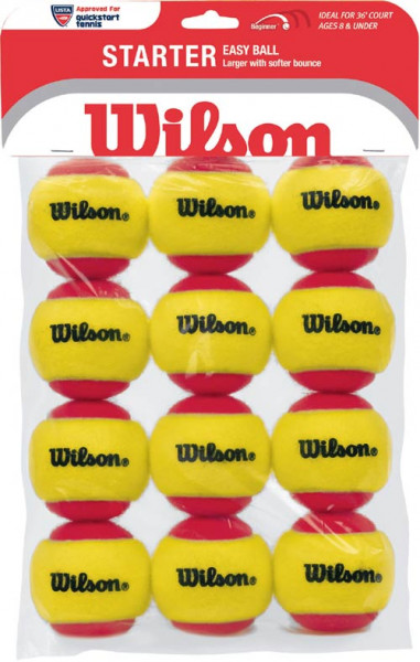 Teniso kamuoliukai pradedantiesiems Wilson Starter Red - 12 vnt.