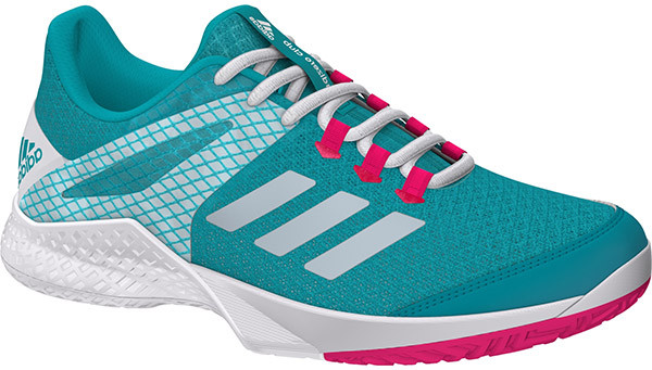 Sieviešu tenisa apavi Adidas Adizero Club 2 W - hi-res aqua/ftw white/shock pink