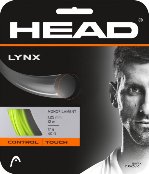 Tennisekeeled Head LYNX 1,25 mm (12 m) - yellow (Soovitame)