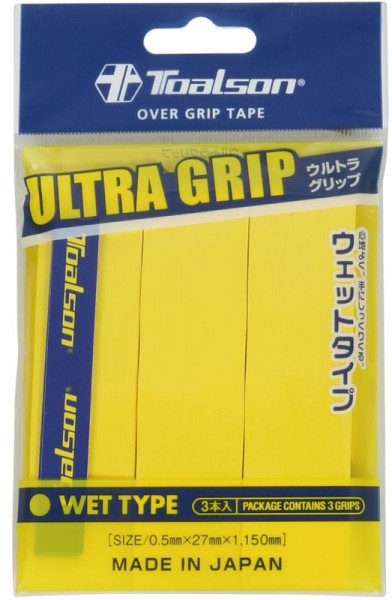 Tenisa overgripu Toalson UltraGrip 3P - yellow