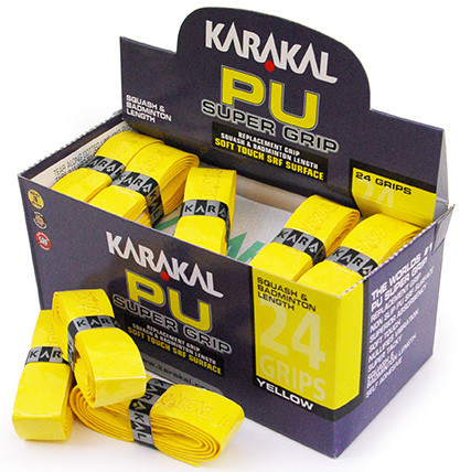 Owijka do squasha Karakal PU Super Grip (1 szt.) - yellow