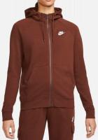 Damska bluza tenisowa Nike Sportswear Essential Hoodie FZ Fleece W - bronze eclipse/white