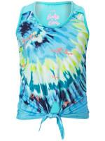T-krekls meitenēm Lucky in Love Girls Peace Out Tie Knot Tank - opal