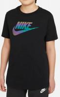T-krekls zēniem Nike Sportswear Tee Chromatic Futura B - black