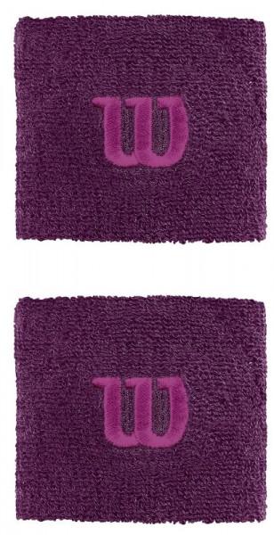 Wilson Wristbands Poignets - dark purple/very berry