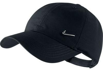 Czapka tenisowa Nike Heritage 86 Metal Swoosh YTH - black/metallic silver