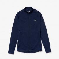 Męska bluza tenisowa Lacoste Men's SPORT Novak Djokovic Stretch Zippered Jacket - navy blue