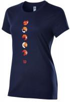 Tenisa T-krekls sievietēm Wilson Tokyo Tech Tee W - maritime blue