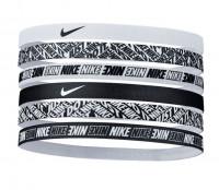 Opaska na głowę Nike Printed Headbands 6PK - white/white/white