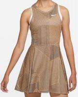 Damska sukienka tenisowa Nike Court Dri Fit Printed Advantage Dress W - peachcream/white