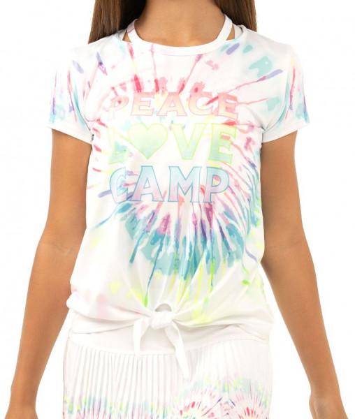 Majica kratkih rukava za djevojčice Lucky in Love Novelty Print Peace N Love S/S G - multi
