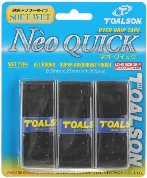 Owijki tenisowe Toalson Neo Quick 3P - black
