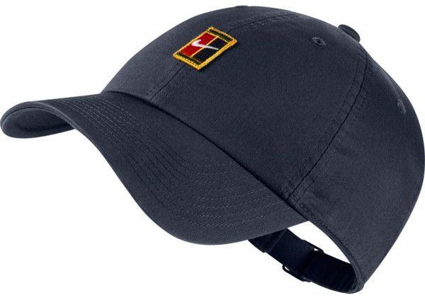 Czapka tenisowa Nike H86 Court Logo Cap - obsidian