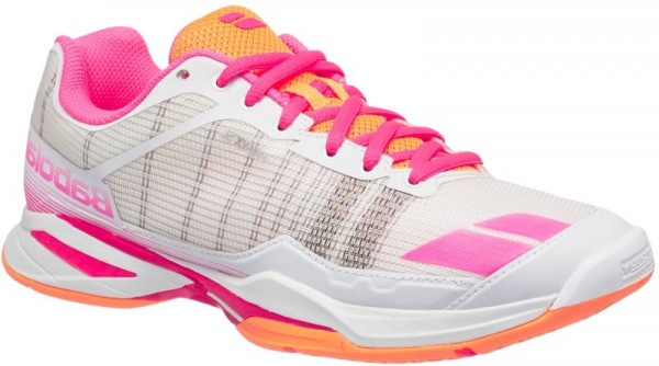 Damskie buty tenisowe Babolat Jet Team All Court Woman - white/orange/pink