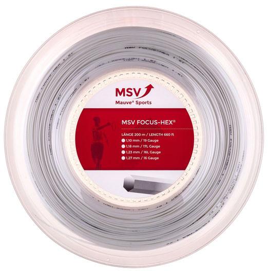 Tenisa stīgas MSV Focus Hex (200 m) - white
