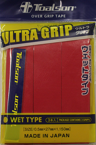 Owijki tenisowe Toalson UltraGrip (3 szt.) - red
