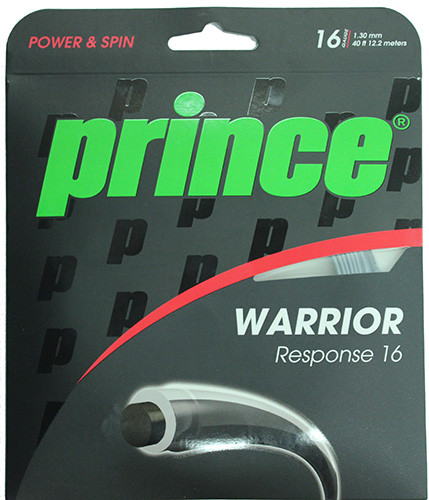 Teniska žica Prince Warrior Response 16 (12,2 m) - black/clear