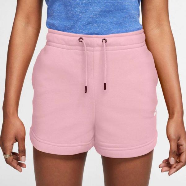 Damskie spodenki tenisowe Nike Sportswear Essential Short French Terry W - pink glaze/white
