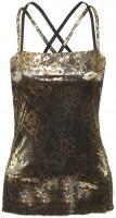 Damski top tenisowy Lotto Tank Lux Limited - metallic lace print