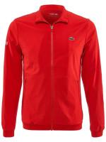 Męska bluza tenisowa Lacoste Men's SPORT Novak Djokovic Textured Zip Jacket - red