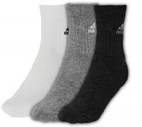 Adidas Adicrew HC 3pp - 3 pary/black/white/medium grey heather