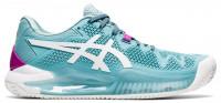 Damskie buty tenisowe Asics Gel-Resolution 8 Clay W - smoke blue/white