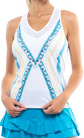 Damski top tenisowy Lucky in Love Square Are You? Tank w/Bra Women - white