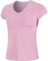 Nike Court Dry Top SS W - pink rise/white