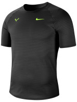 Męski T-Shirt Nike Court Rafa Aeroreact Top SS Slam - black/volt