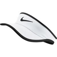 Daszek tenisowy Nike Featherlight Visor YTH - white/black