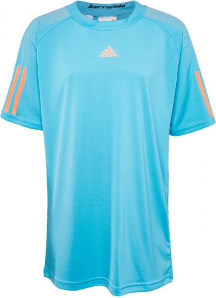 T-shirt Adidas Barricade Tee - samba blue/glow orange