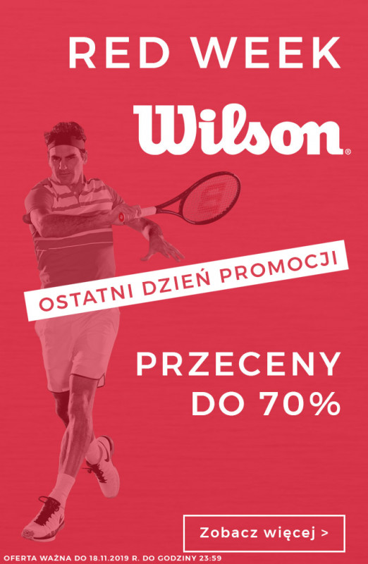 Red Week - Wilson - Przeceny do 70%