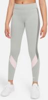 Dječje trenirke Nike Dri-Fit One Legging G - light smoke grey/pink foam/smoke grey/white