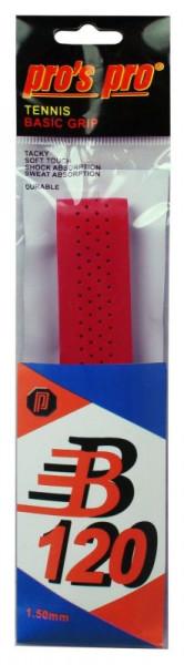 Owijki tenisowe bazowe Pro's Pro Basic Grip B 120 (1 szt.) - red