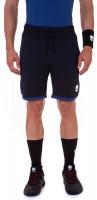 Męskie spodenki tenisowe Hydrogen Reflex Tech Shorts - black/blue melange