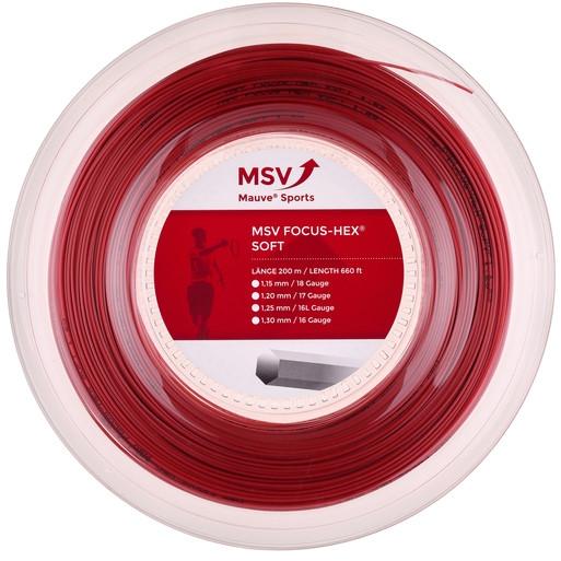 Tenisa stīgas MSV Focus Hex Soft (200 m) - red