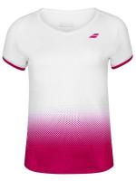 Koszulka dziewczęca Babolat Compete Cap Sleeve Top Girl - white/vivacious red