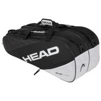 Teniso krepšys Head Elite 9R Supercombi - black/white