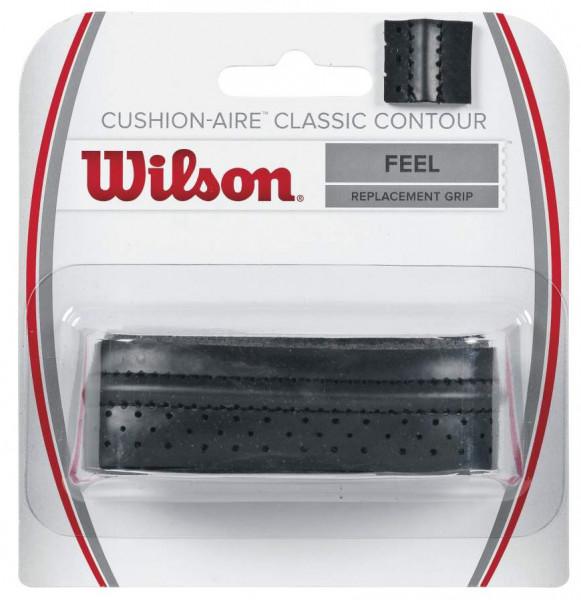 Owijki tenisowe bazowe Wilson Cushion-Aire Classic Contour black 1P
